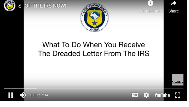 Stop the irs Tax Help Representation.